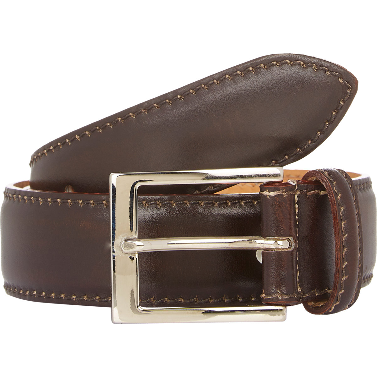 harris leather belt in brown for lyst