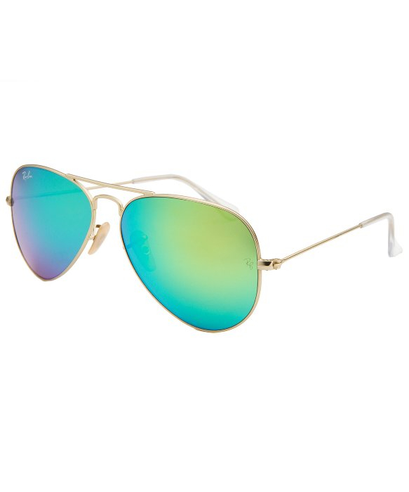 5e468e01e3 ... discount lyst ray ban aviator classic gold tone blue green reflective  lens bd357 3f8d5