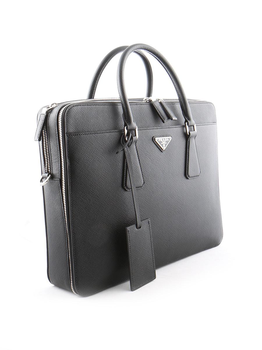 Prada Mens Bag in Black for Men | Lyst