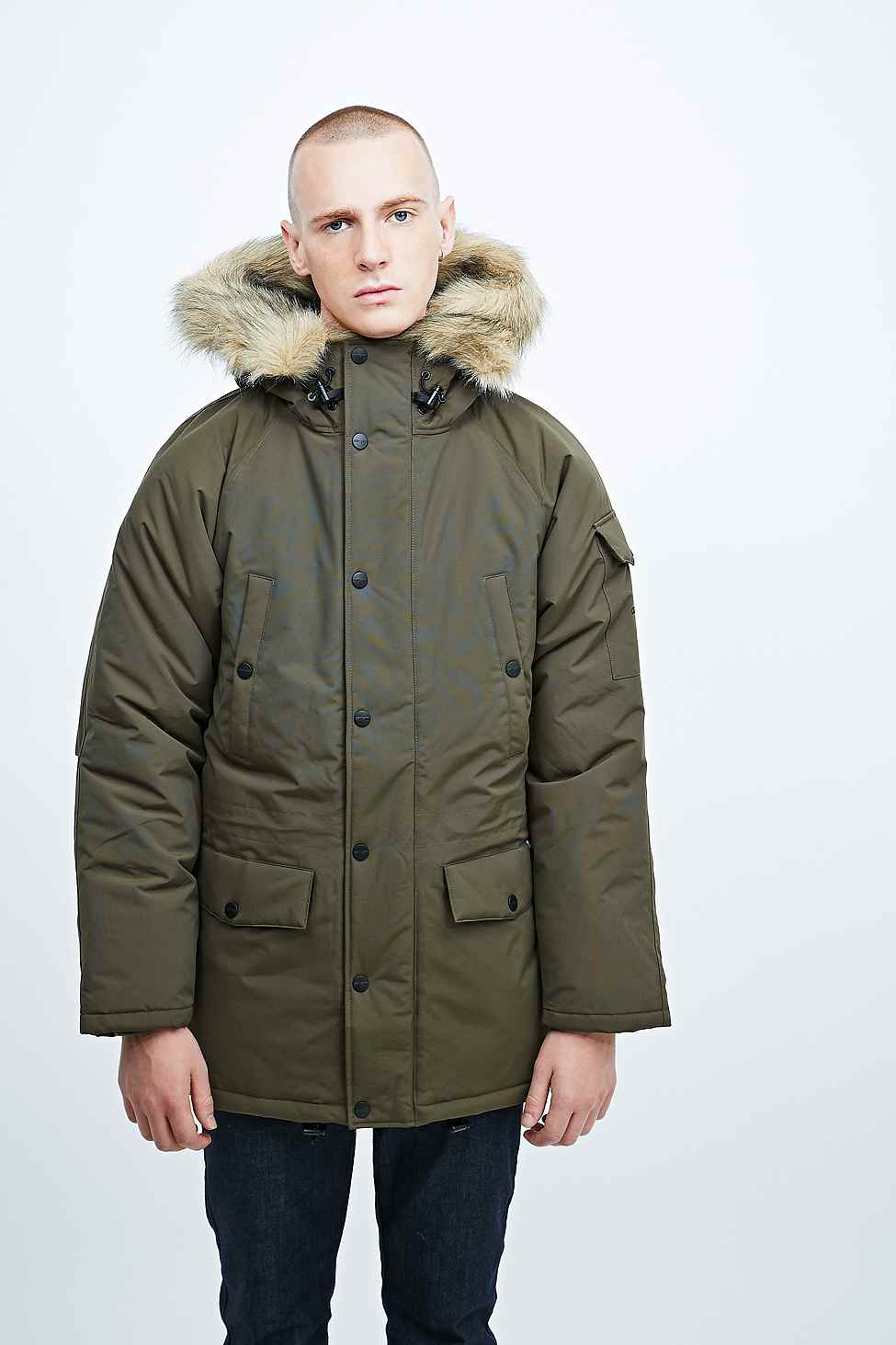 lyst carhartt anchorage parka in cypress green in green. Black Bedroom Furniture Sets. Home Design Ideas