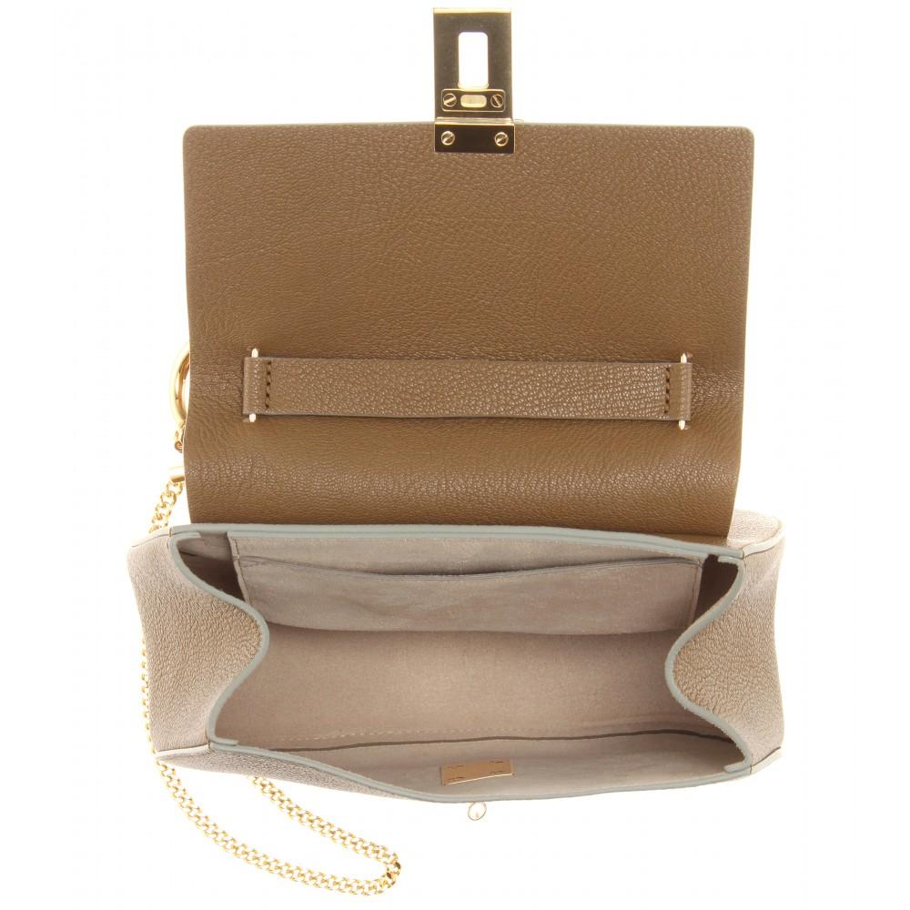 Chlo¨¦ Drew Leather Shoulder Bag in Khaki (khaki made in italy ...