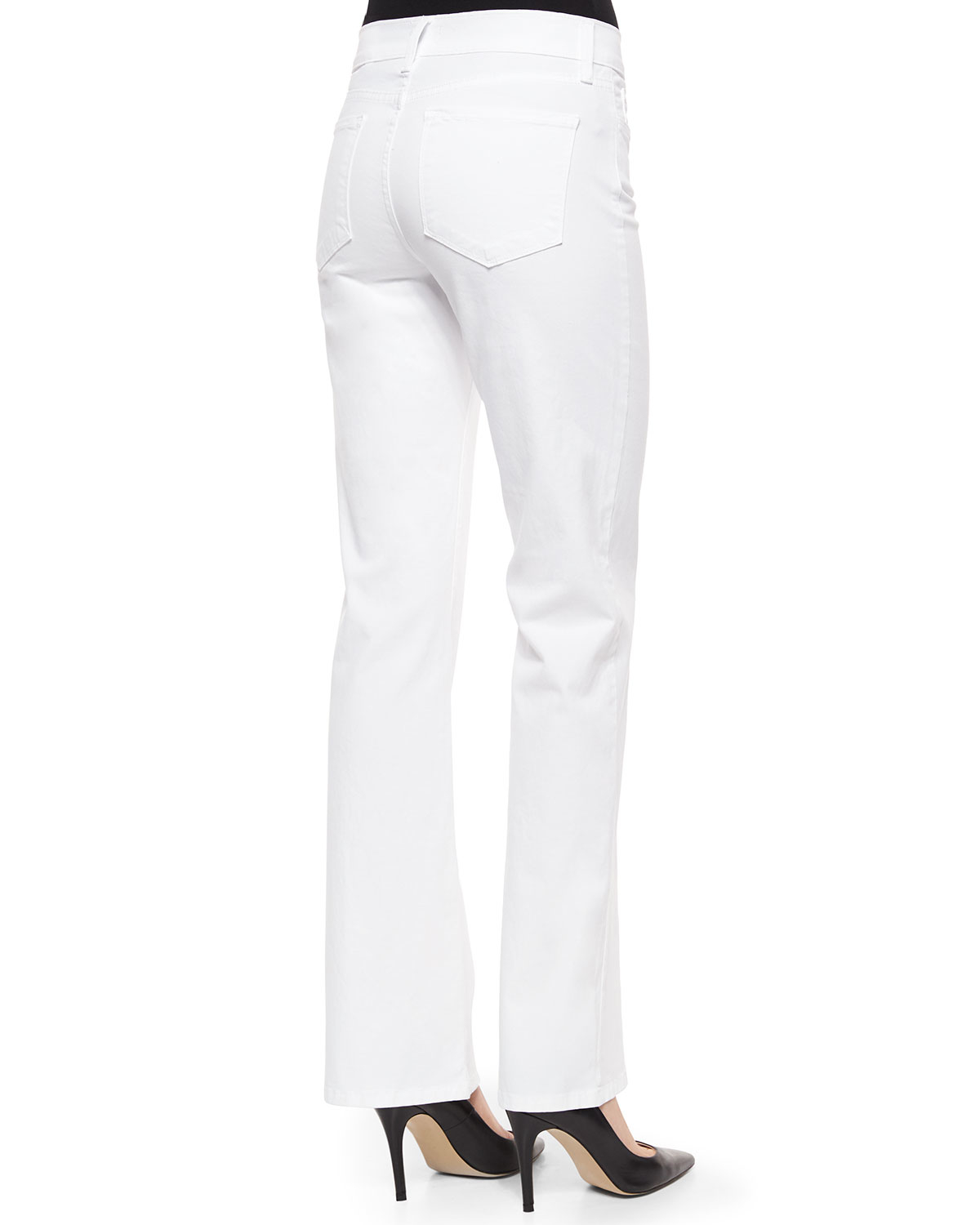 Nydj Sarah Pastel Boot-cut Jeans in White | Lyst