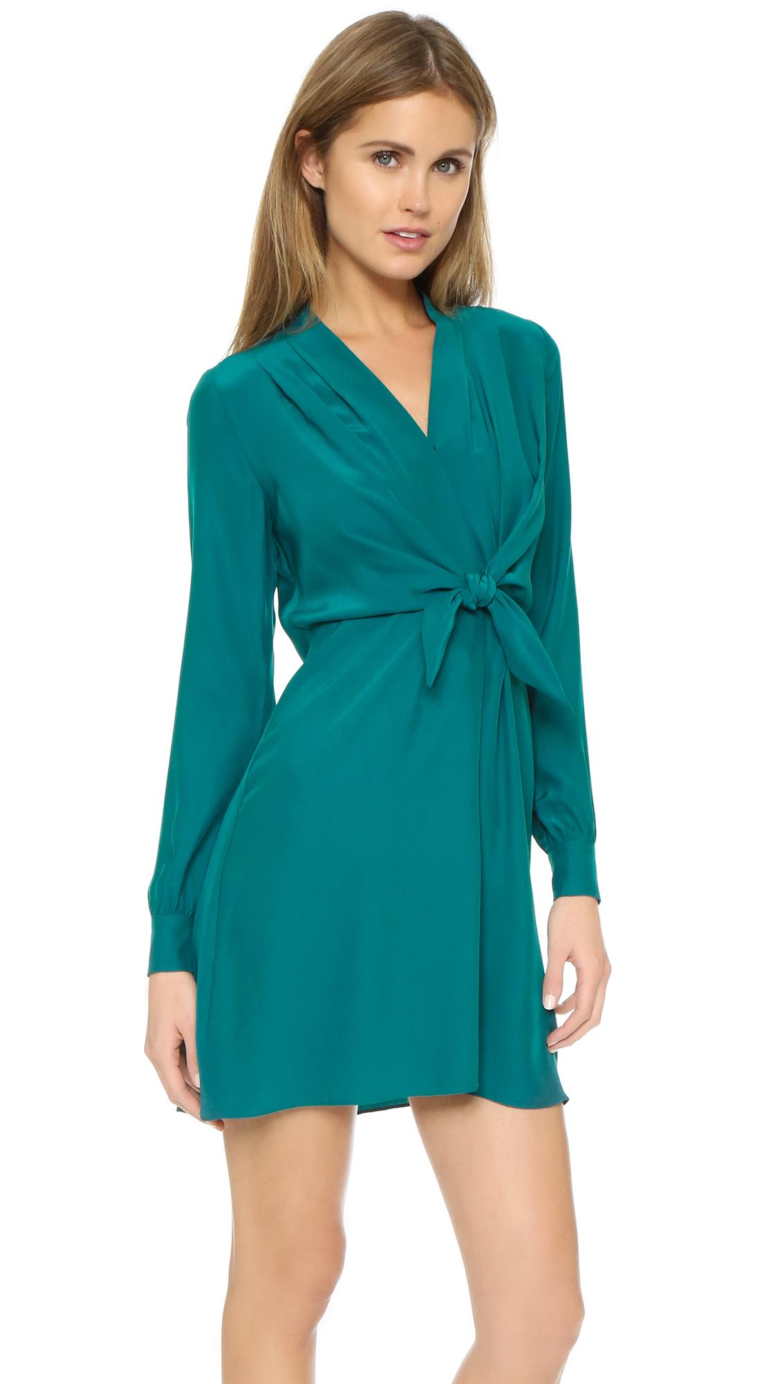 Lyst - Amanda Uprichard Gabriella Dress in Green