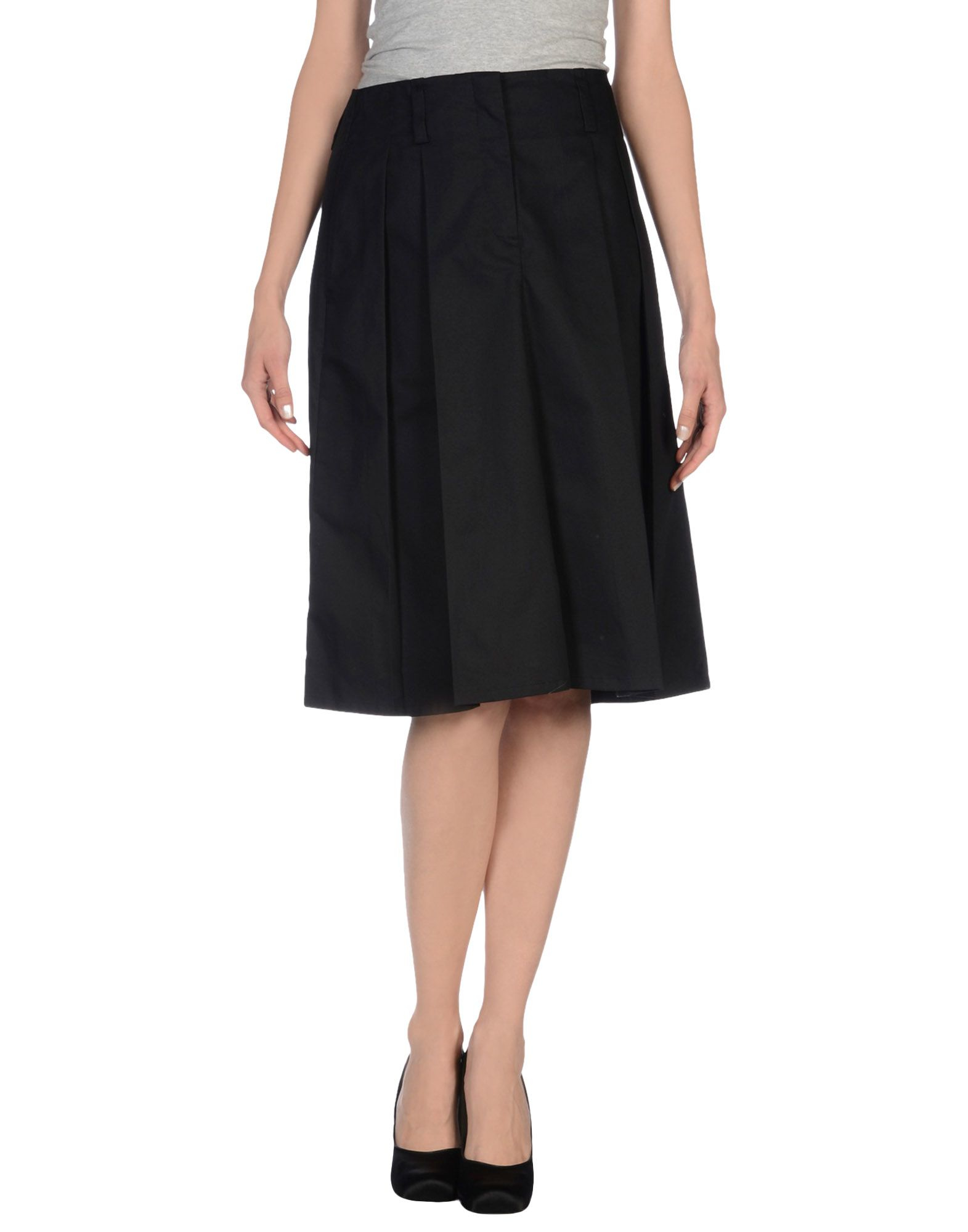jil sander knee length skirt in black lyst