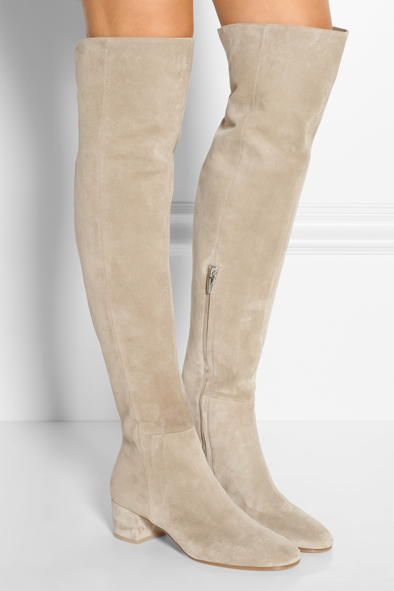 1eab5d73b08 Lyst - Gianvito Rossi Suede Over-the-knee Boots
