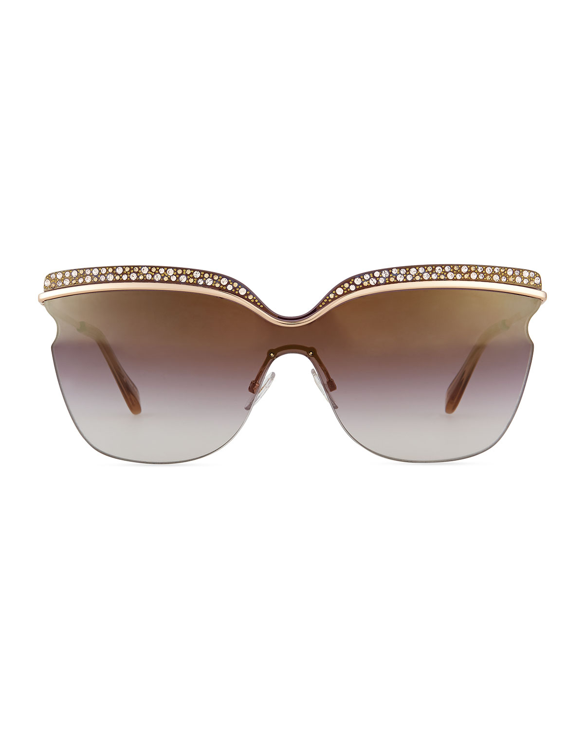 19f5af419d1e Lyst - Jimmy Choo Jezebel Exaggerated-Brow Sunglasses in Pink