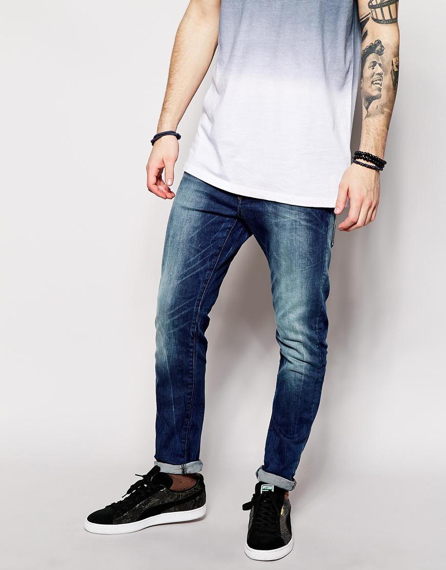 9c1853b853f G-Star RAW Jeans Type C 3d Super Slim Fit Stretch Medium Aged in ...