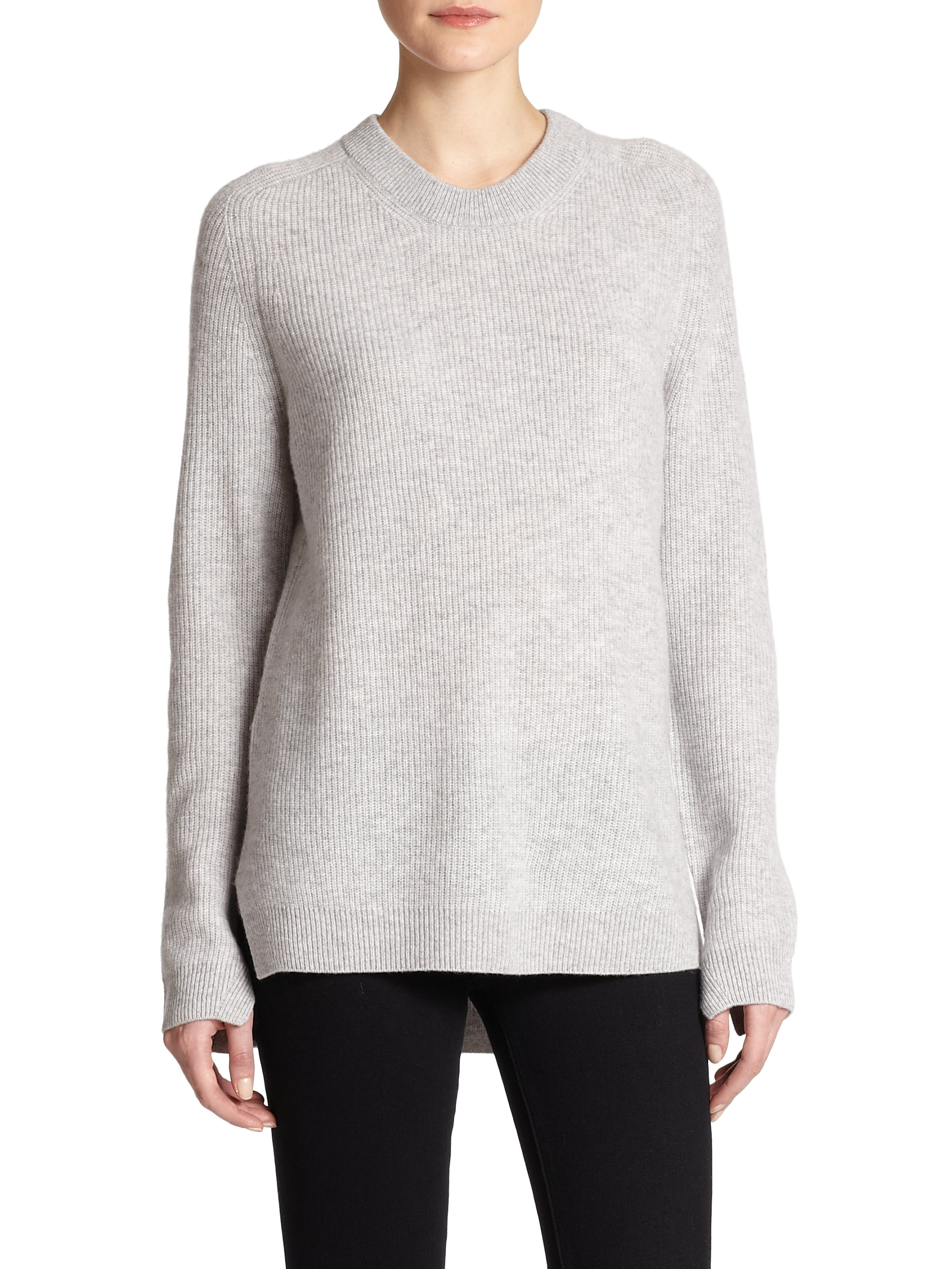 Rag & bone Valentina Cashmere Sweater in Gray | Lyst