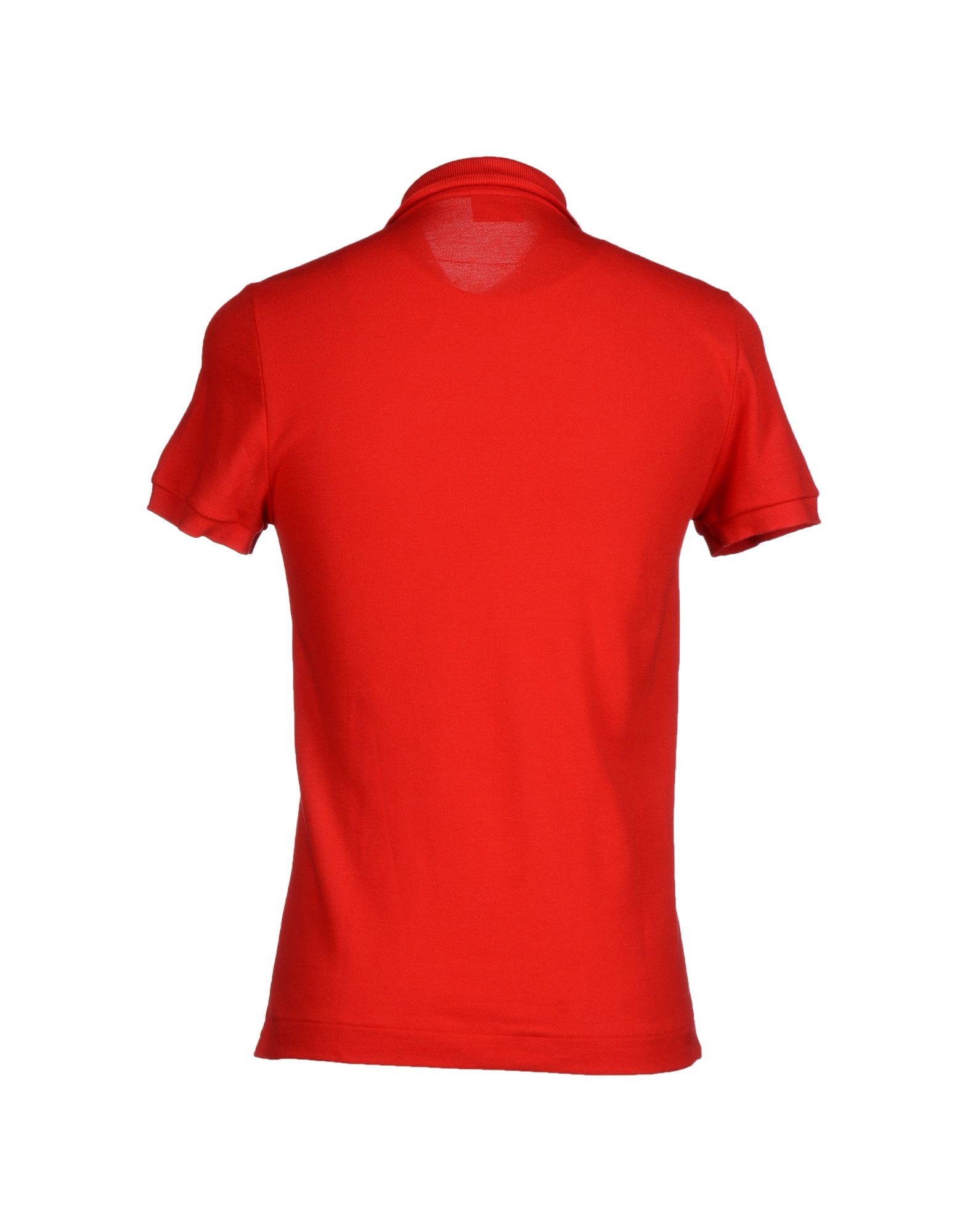 Lacoste polo shirt in red for men lyst for Lacoste poloshirt weiay