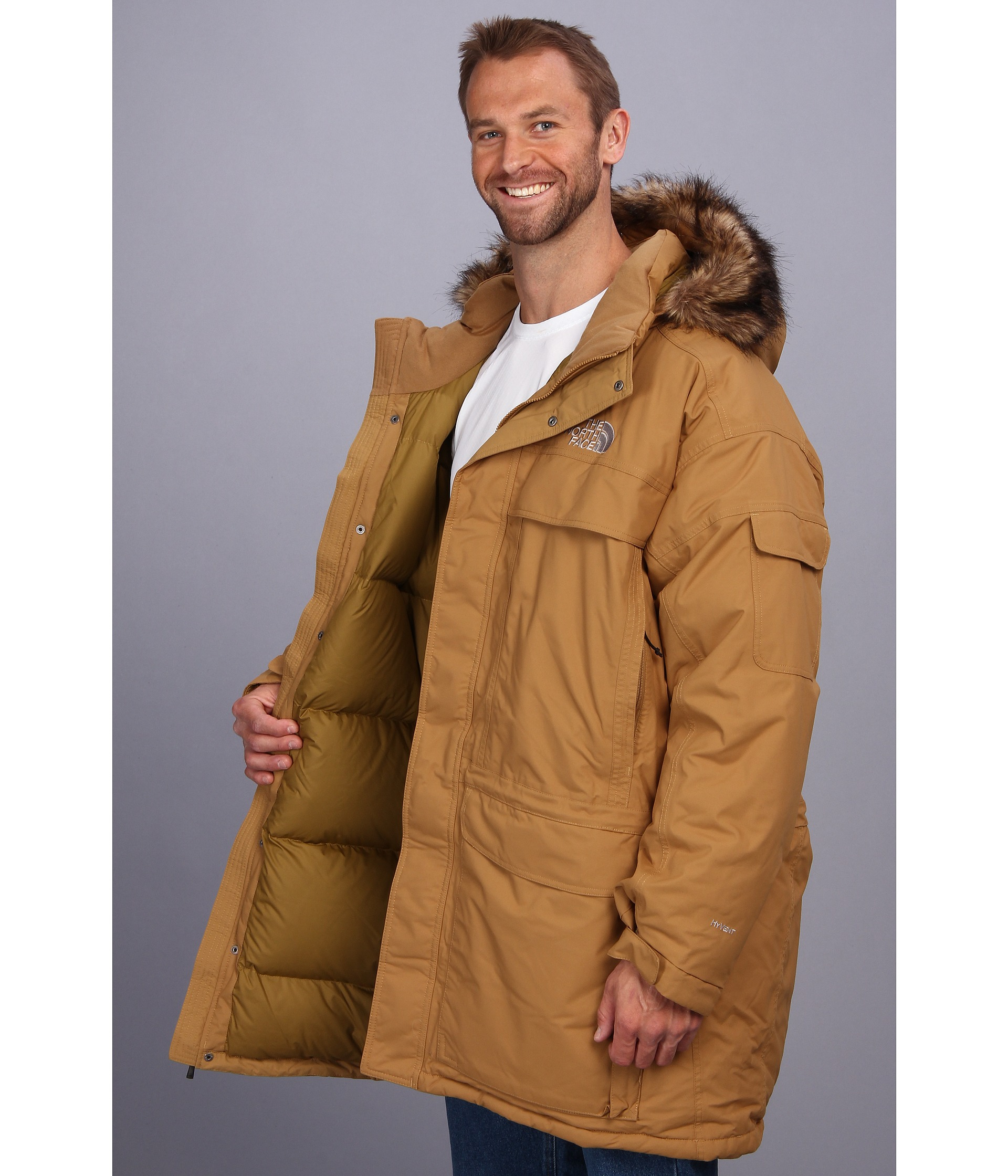 the north face mcmurdo parka in brown for men lyst. Black Bedroom Furniture Sets. Home Design Ideas