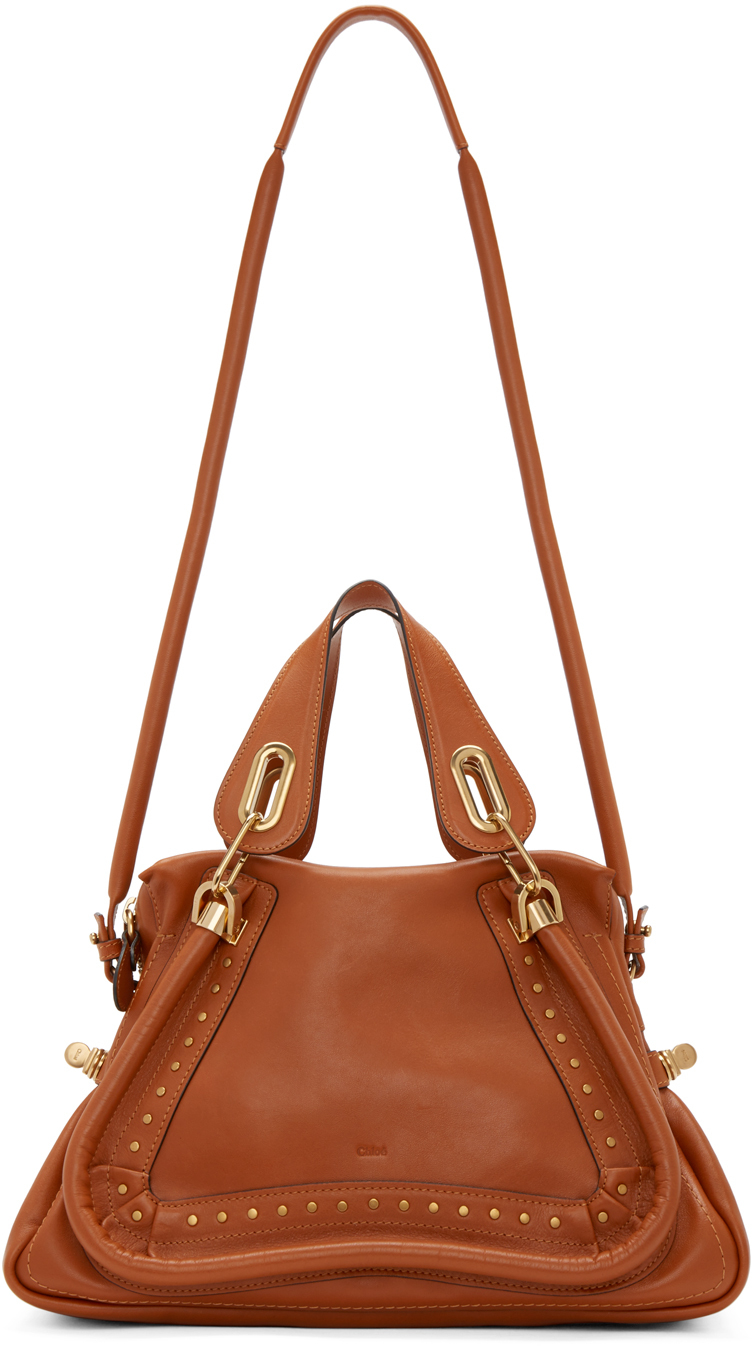 Chlo¨¦ Brown Leather Medium Paraty Shoulder Bag in Brown | Lyst