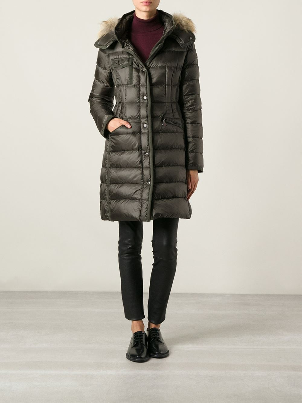 moncler womens hermifur down fur jacket