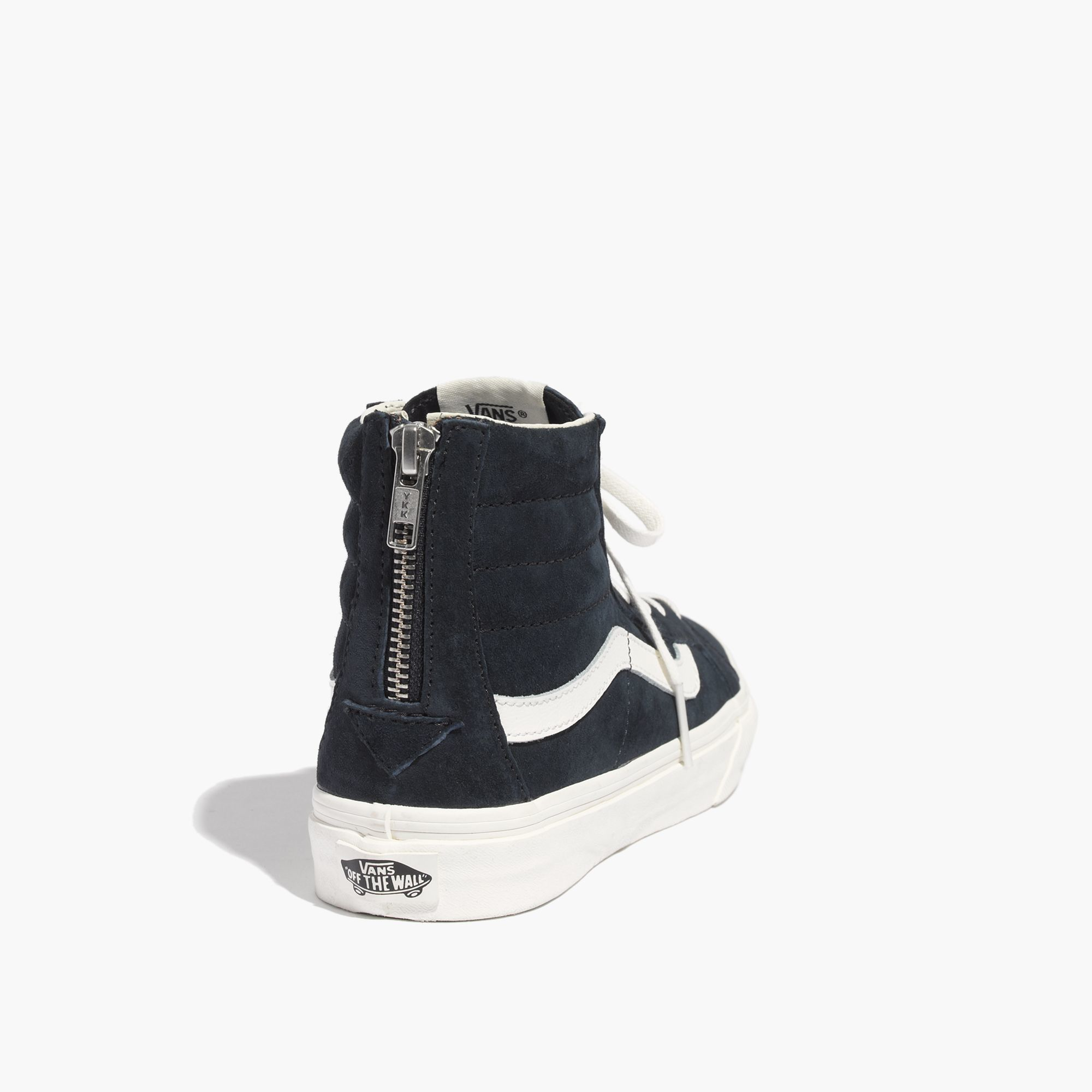 1471d109e498db Lyst - Madewell Vans® Sk8-Hi Slim Zip High-Top Sneakers In Navy ...