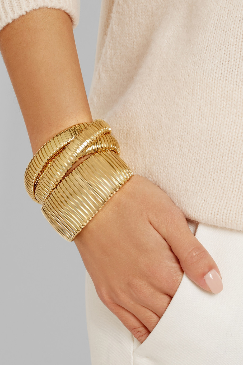 Lyst Sidney Garber Rolling 18 Karat Gold Interlinked Bracelet In