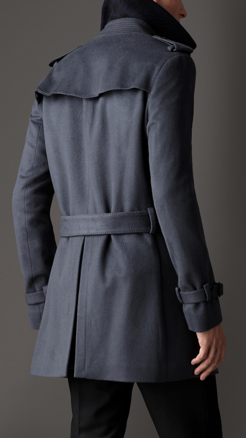 Lyst Burberry Mid Length Virgin Wool Cashmere Trench