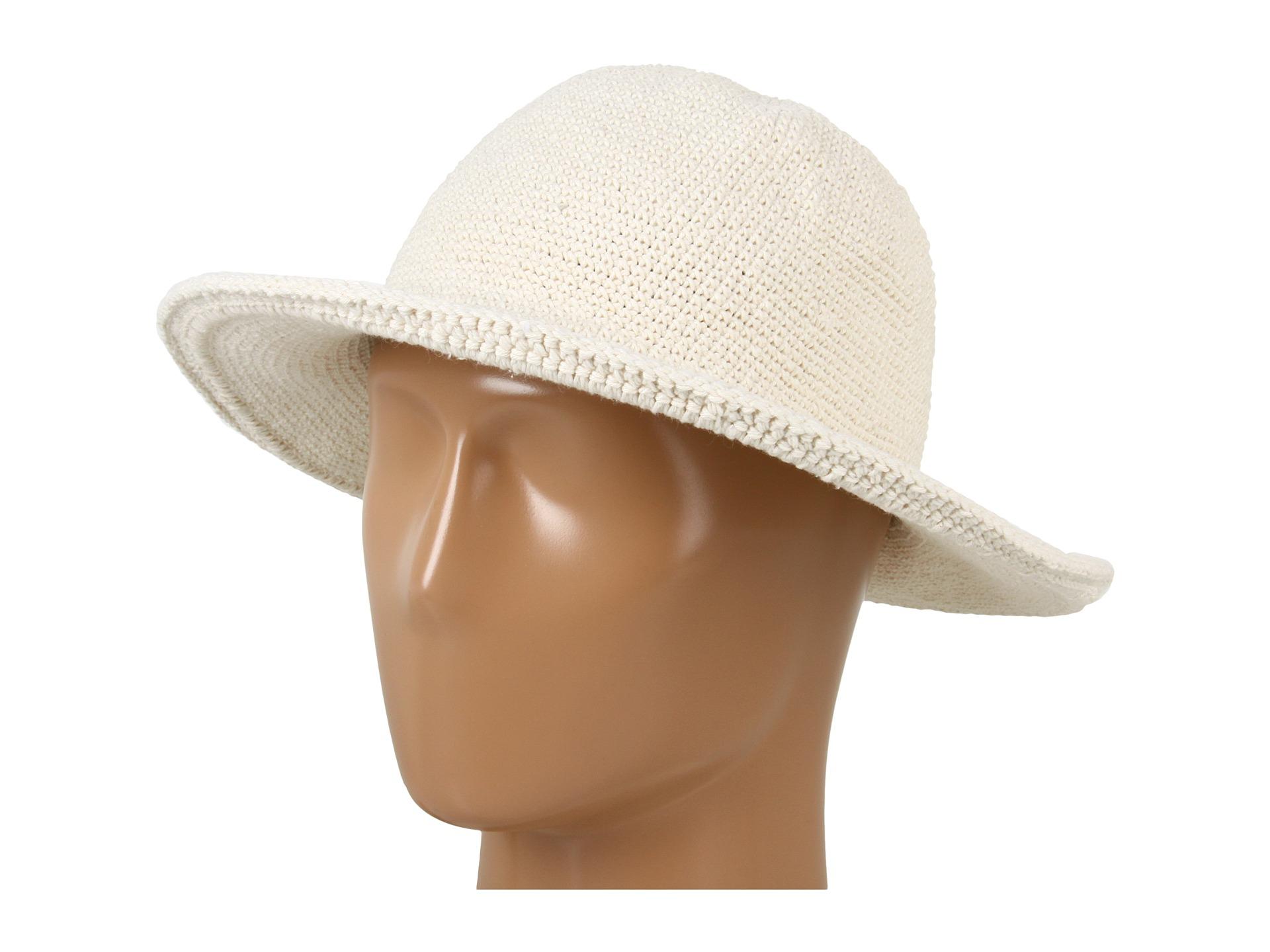 Lyst - San Diego Hat Company Chm5 Cotton Crochet Medium Brim Sun Hat ... 55efbff37693
