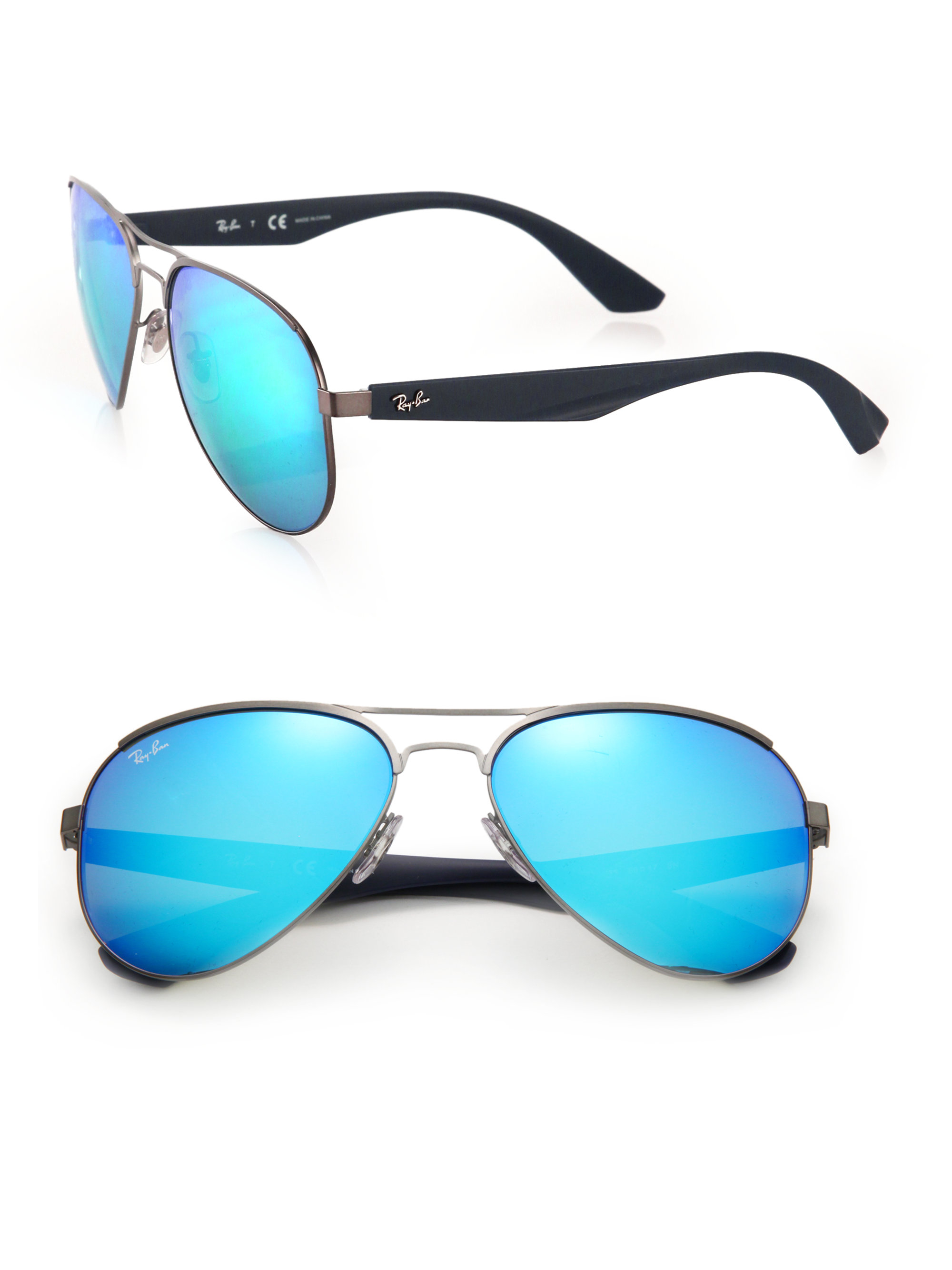 6171ecbc3d834 Ray-ban 59mm Highstreet Aviator Sunglasses in Blue for Men
