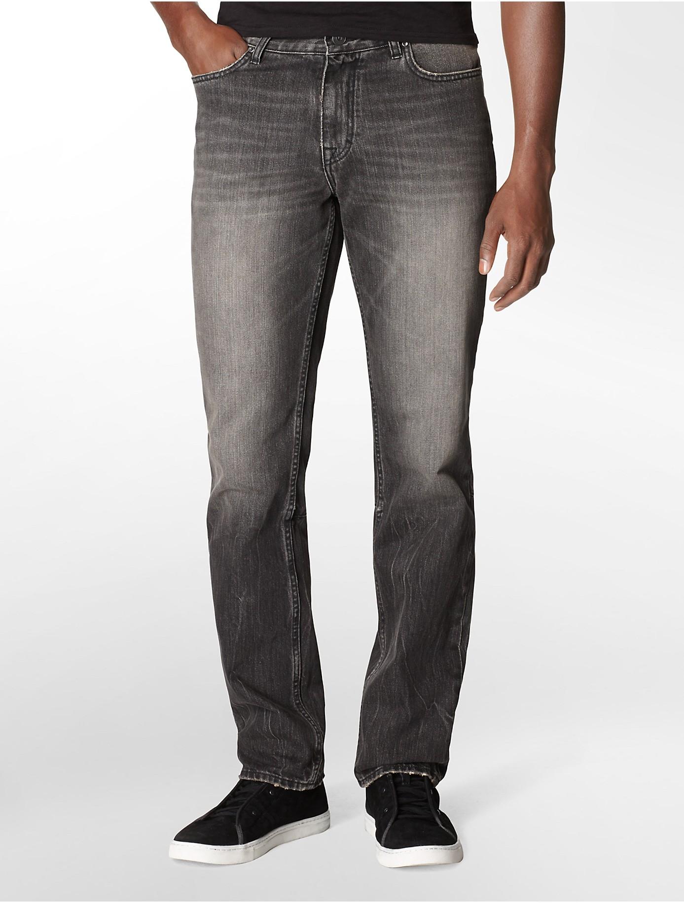 calvin klein jeans slim straight leg washed shadow rinse. Black Bedroom Furniture Sets. Home Design Ideas