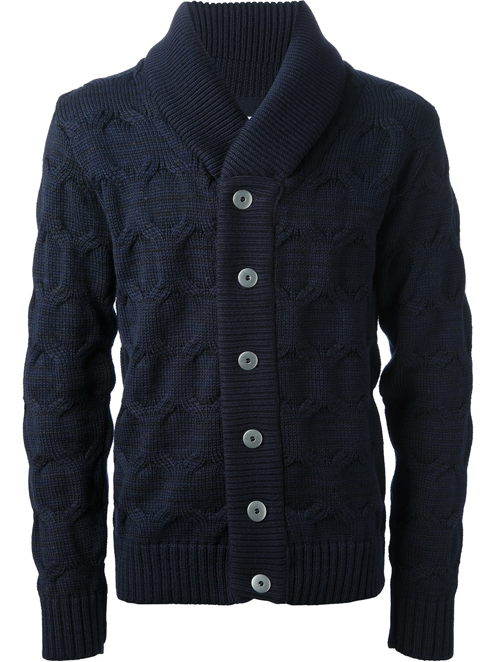 S.n.s herning Wool Cardigan in Blue for Men | Lyst