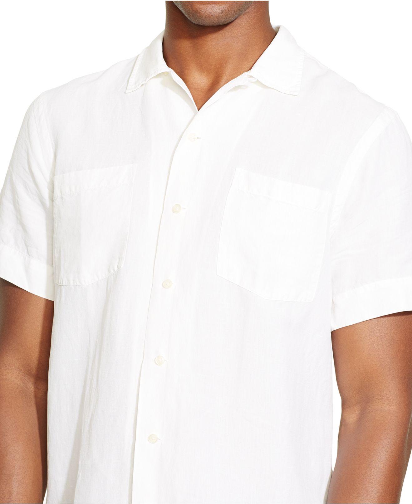Polo Ralph Lauren Linen Silk Camp Shirt In White For Men