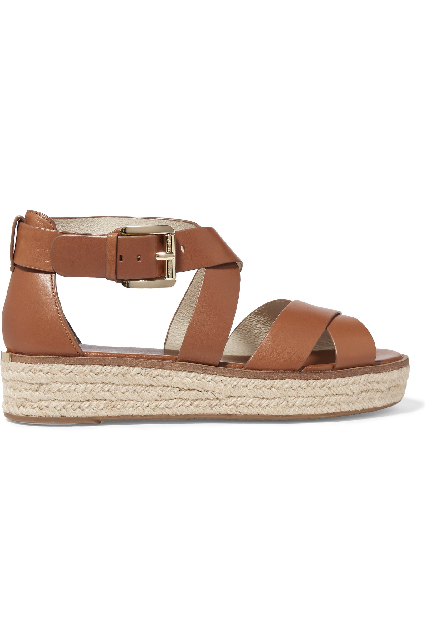 b3fa4101c292 MICHAEL Michael Kors Darby Leather Espadrille Platform Sandals in ...