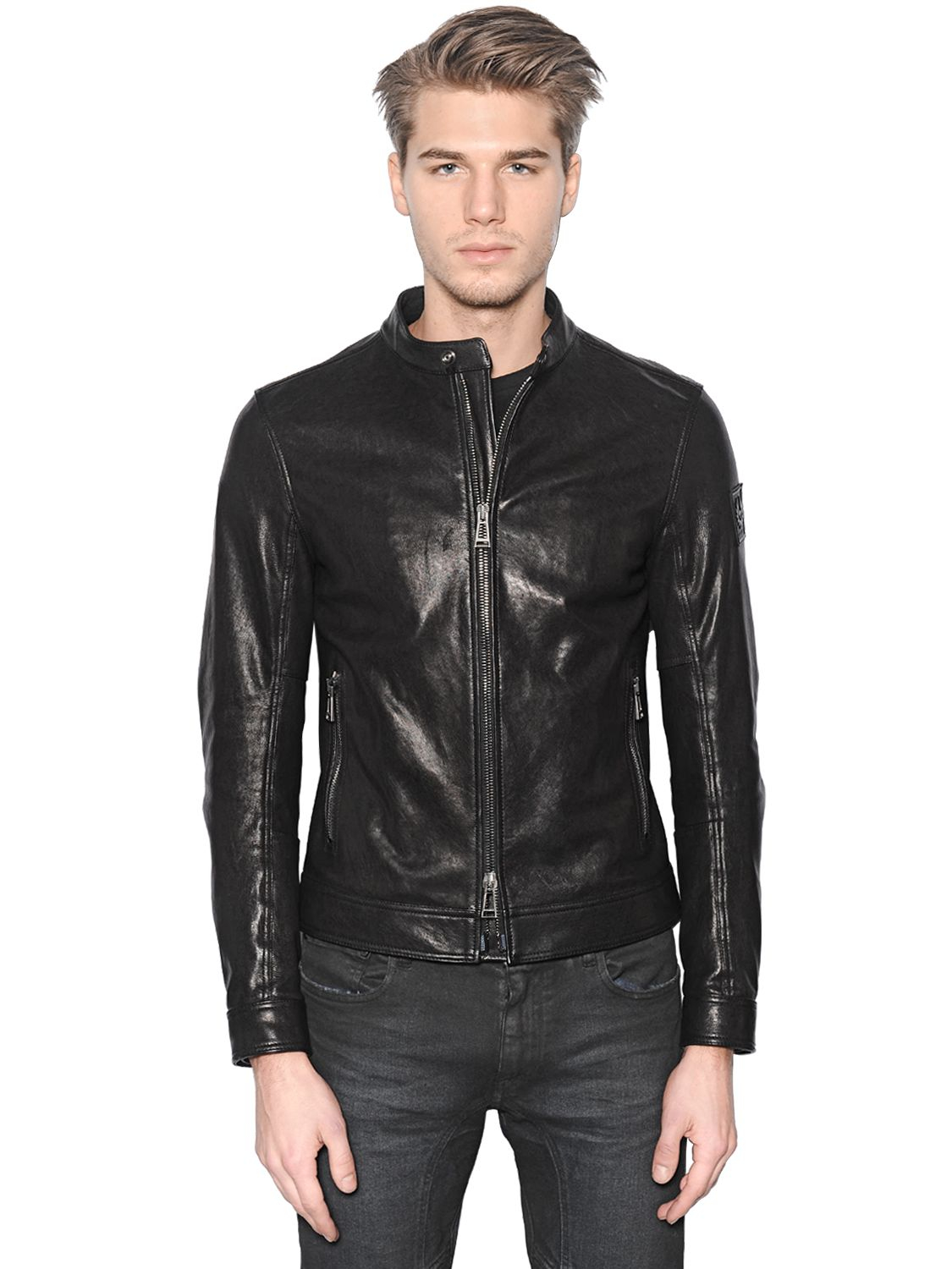 Belstaff Mens Leather Motorcycle Jacket