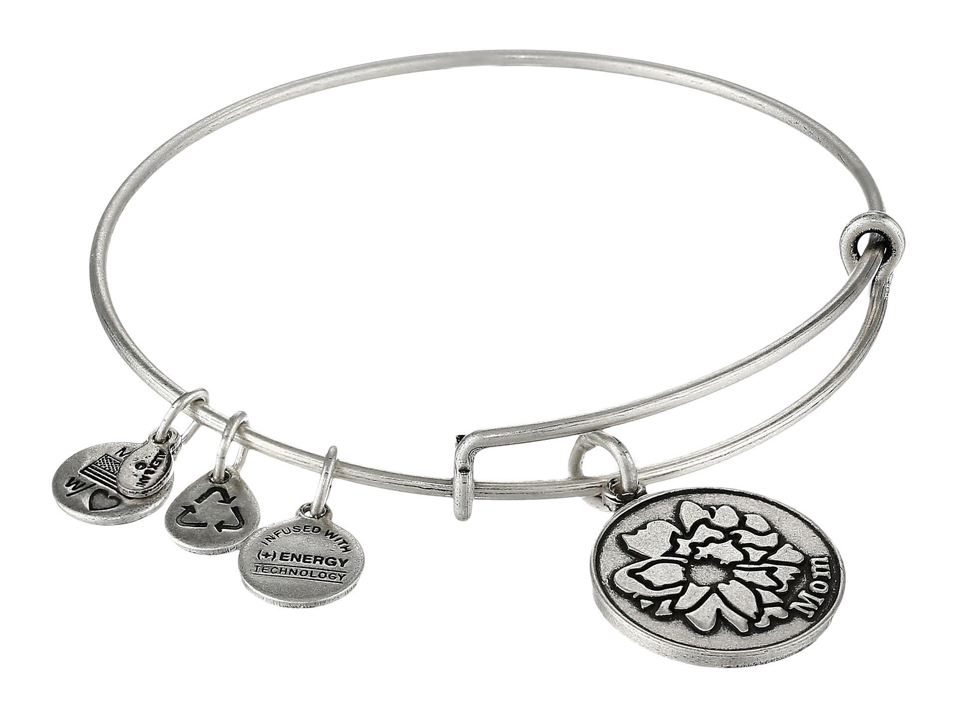 dd47675313bf25 ALEX AND ANI Because I Love You Mom Charm Bangle in Metallic - Lyst