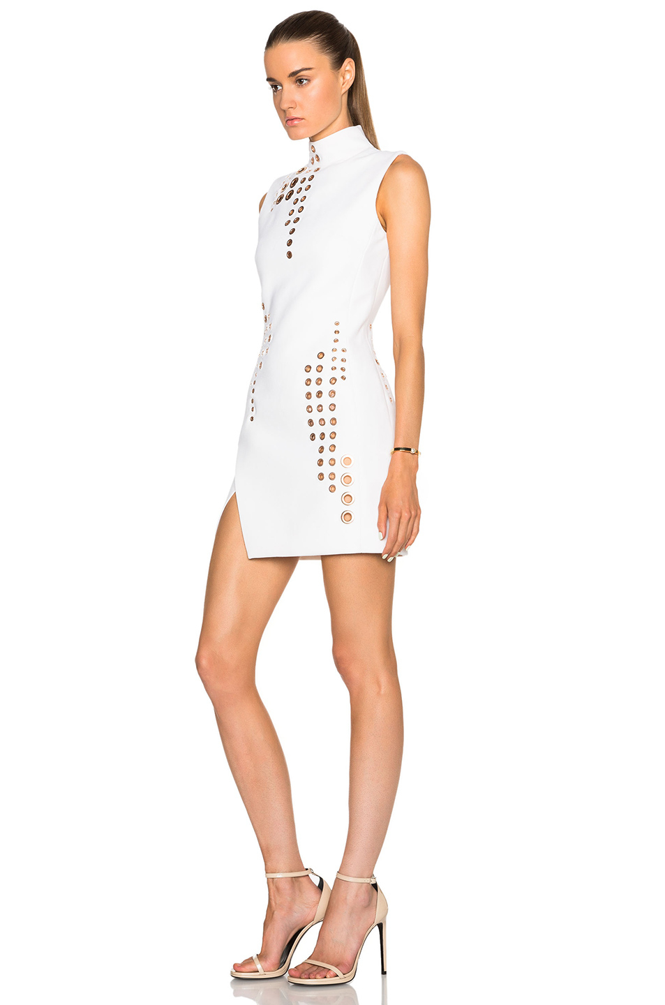 White dresses with grommets