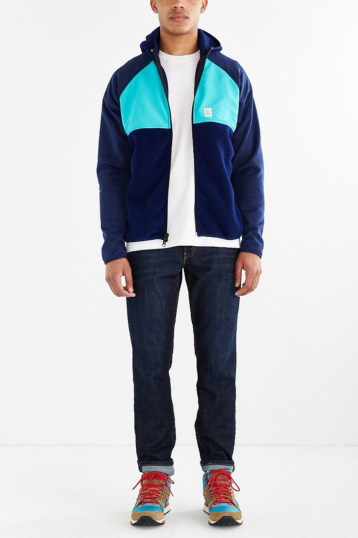 Topo designs Fleece Hooded Sweatshirt in Blue for Men   Lyst