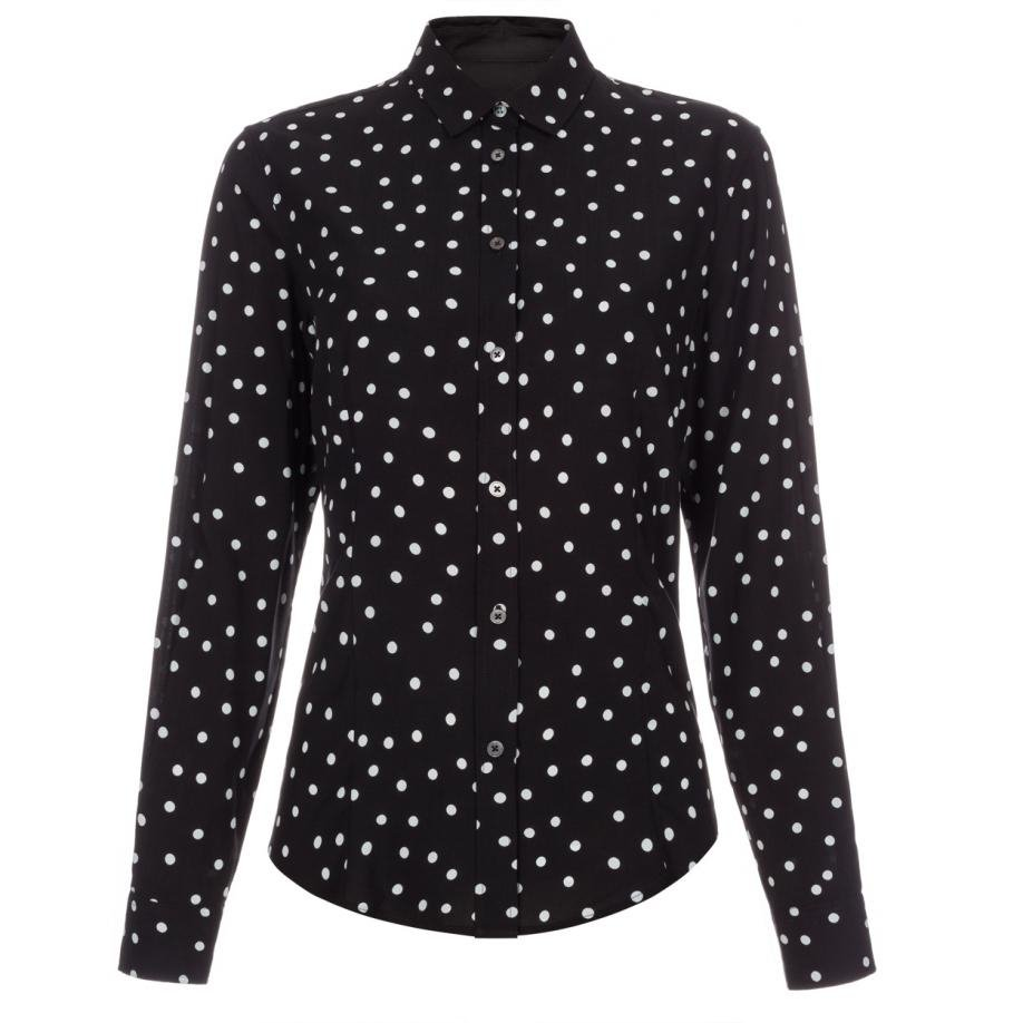 Find women's white shirt with black polka dots at ShopStyle. Shop the latest collection of women's white shirt with black polka dots from the most. Haider Ackermann Polka Dot Print Silk Shirt - Womens - Black White $ $ Get a Sale Alert Free Delivery & Free.