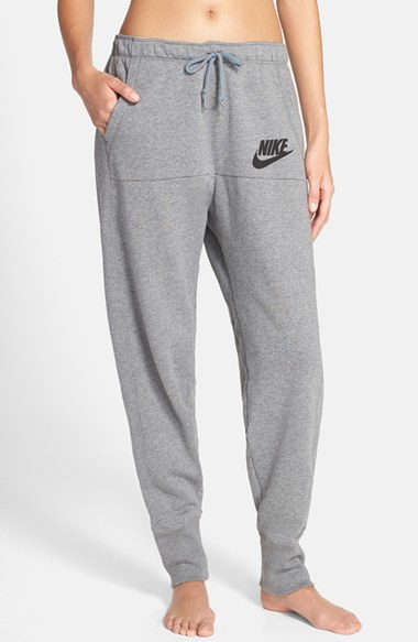 Nike U0026#39;rallyu0026#39; Jogger Sweatpants In Black (CARBON HEATHER/ GREY/ BLACK) | Lyst