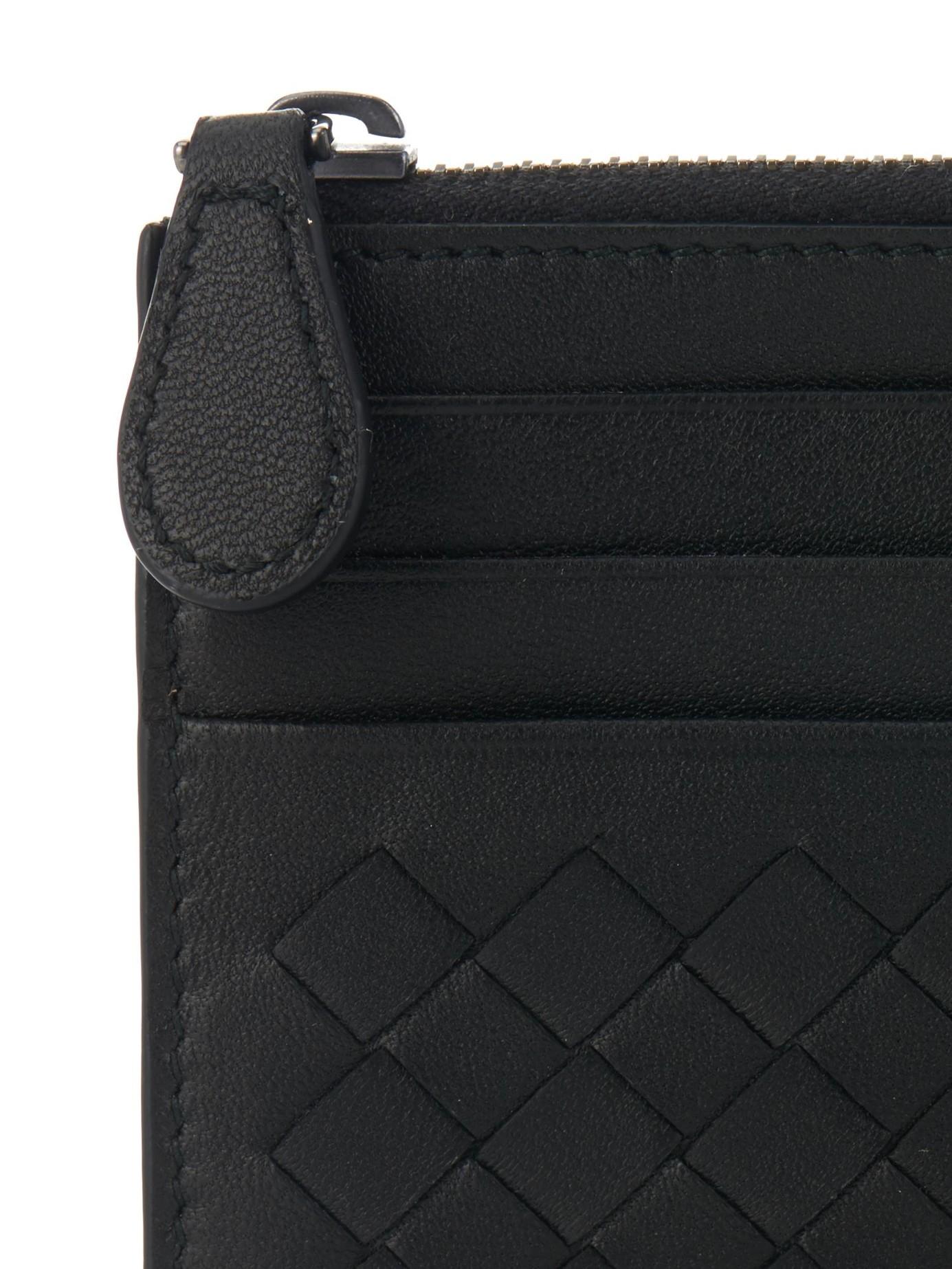Intrecciato leather cardholder Bottega Veneta PcEdPgO2XD