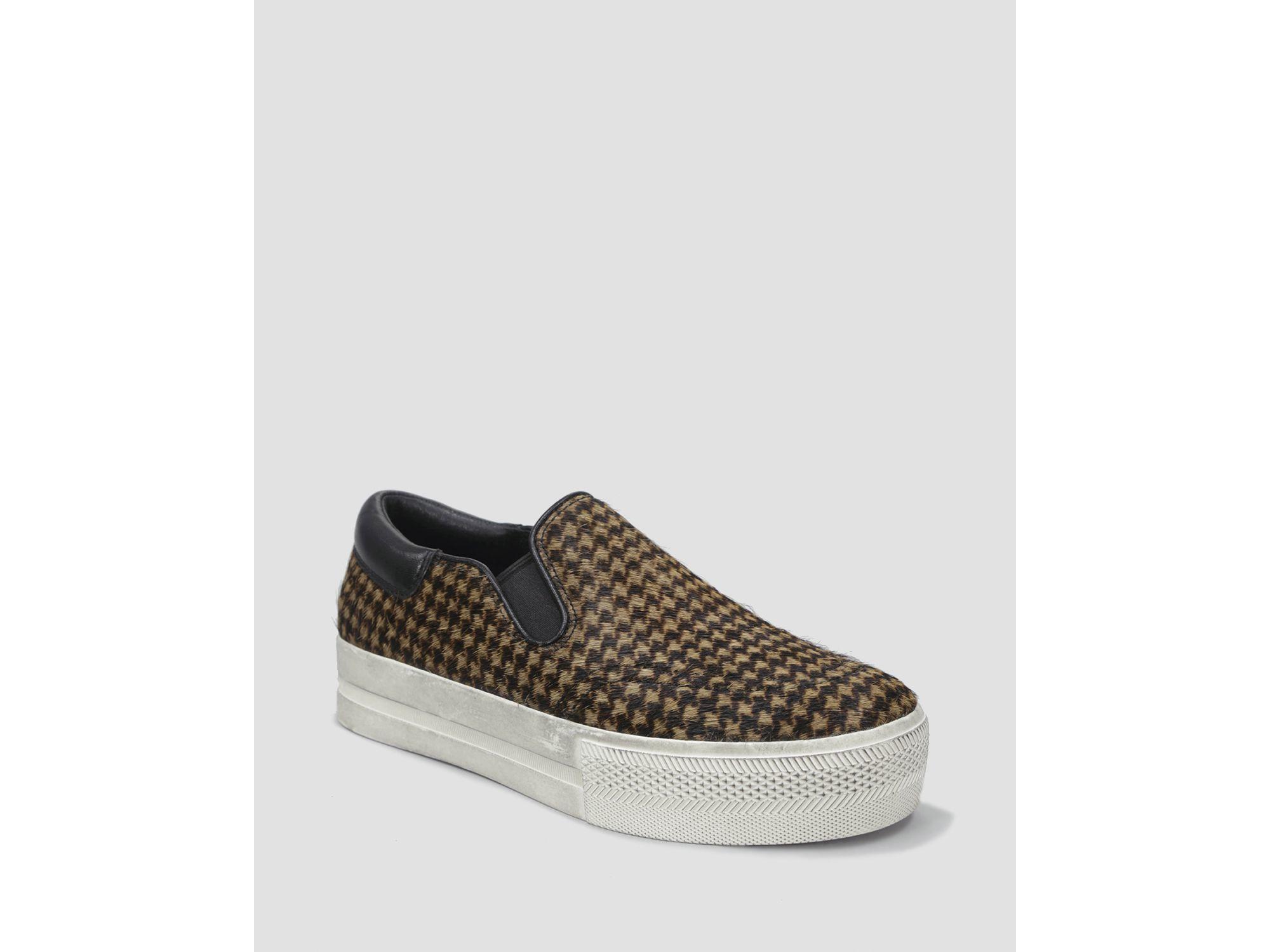766fd5f03cc Ash Slip On Platform Sneakers - Jam Leopard Print in Black - Lyst