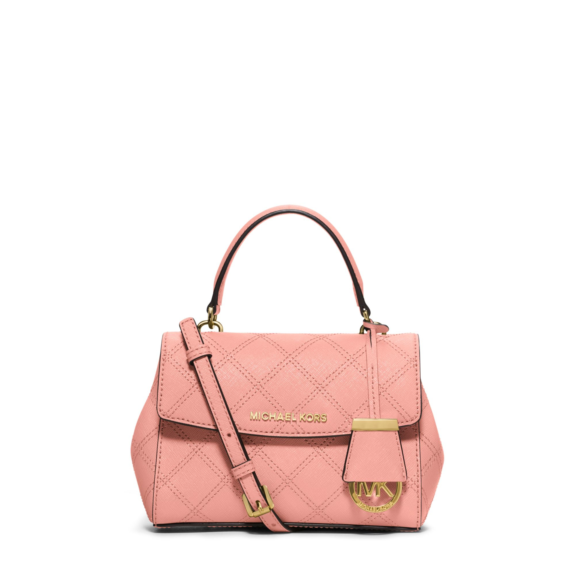 c68638576c9c Lyst - Michael Kors Ava Extra-small Saffiano Leather Crossbody in Pink