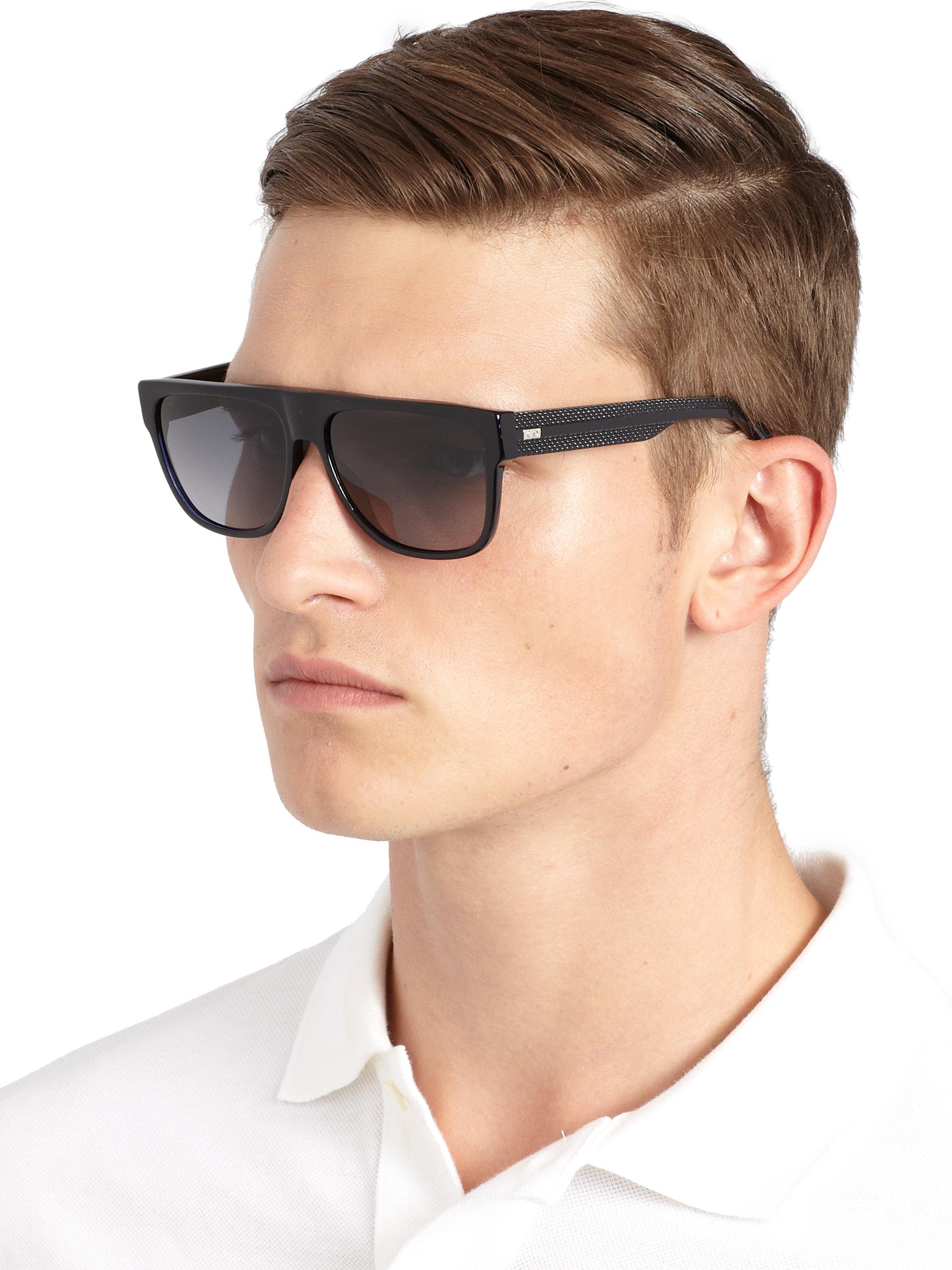 Dior Homme Black Tie Acetate Sunglasses In Black For Men