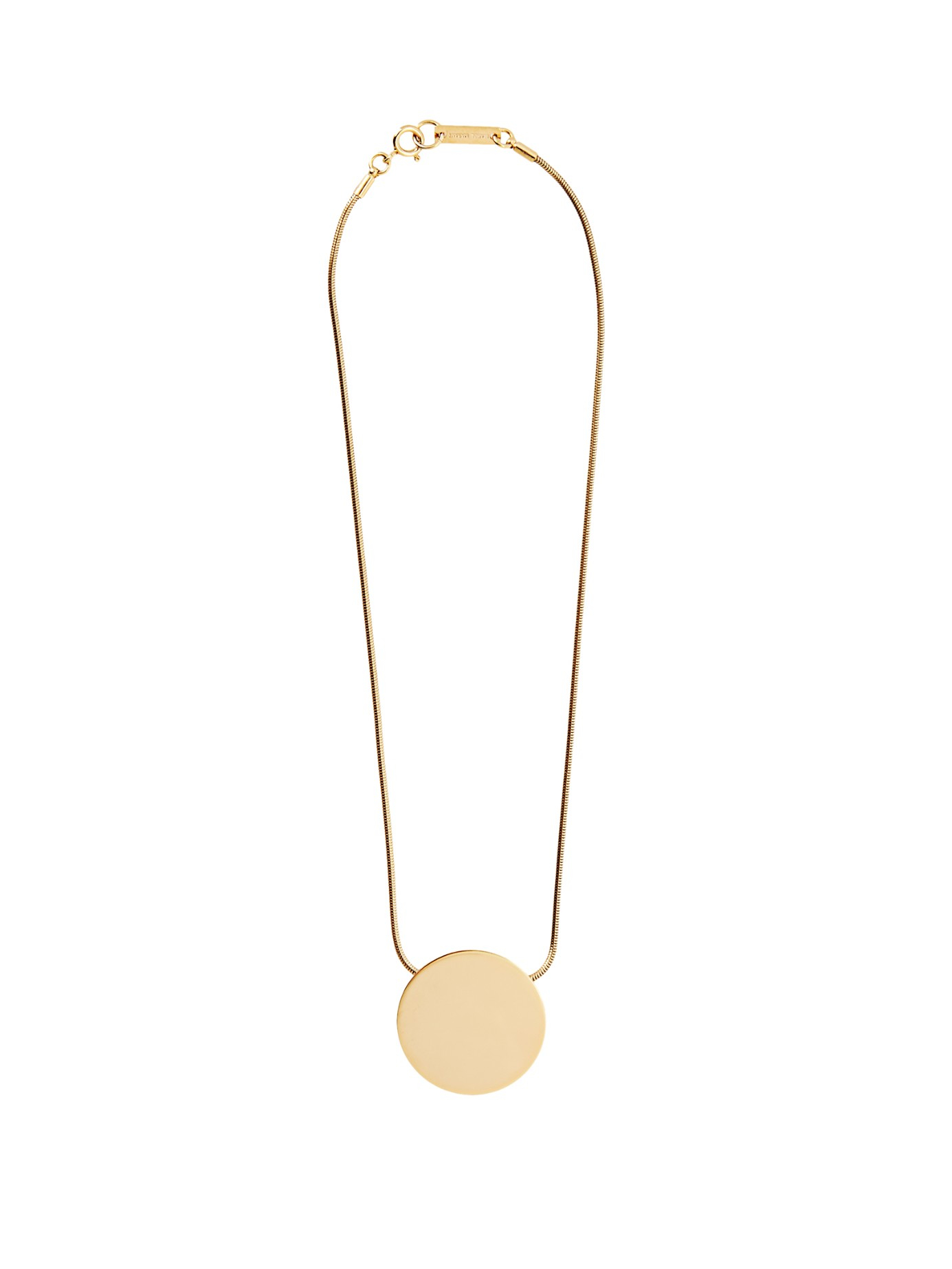 Lyst isabel marant disk pendant necklace in metallic gallery aloadofball Images