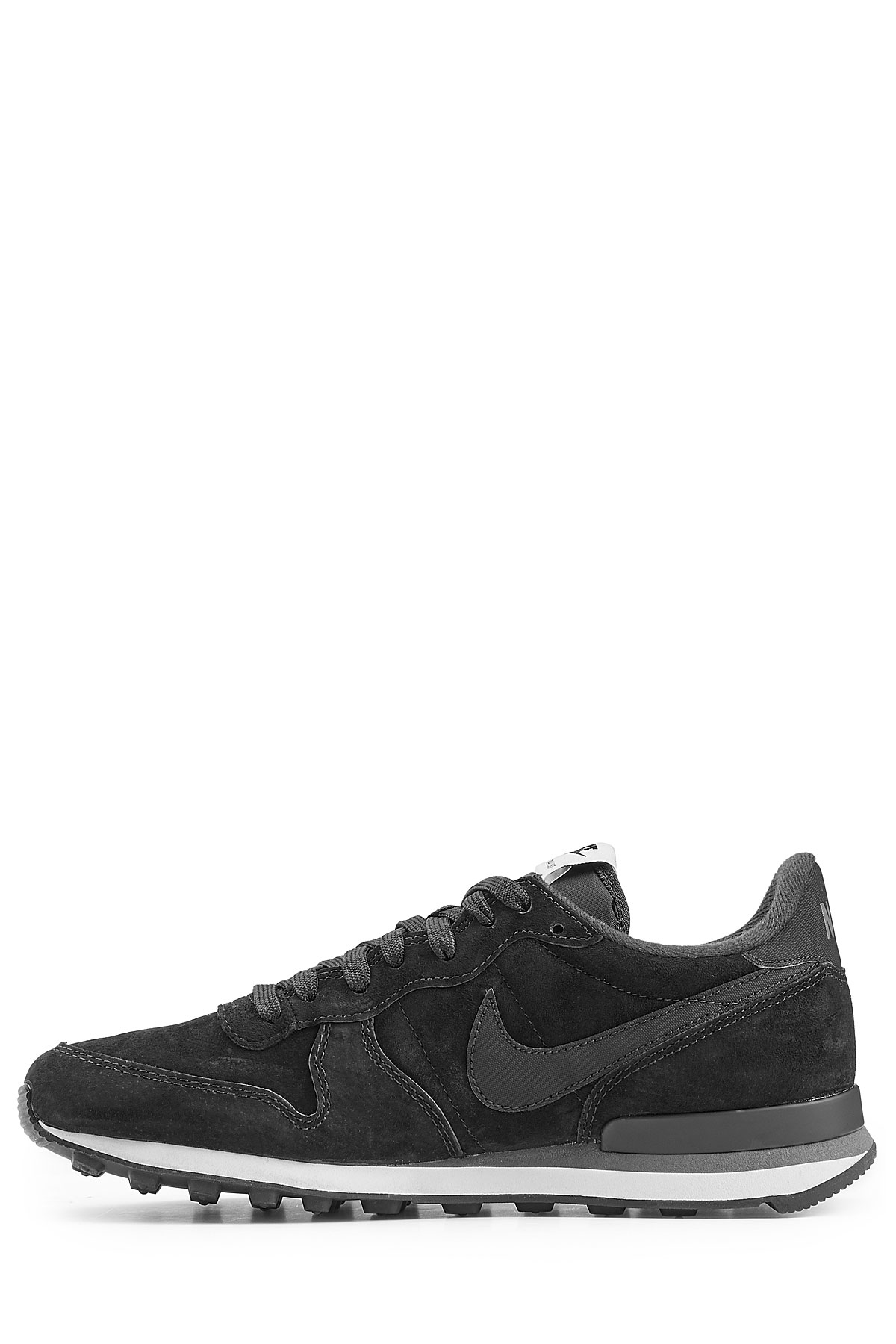new product b316a ec466 Nike Internationalist Suede Sneakers - Black in Black for Men - Lyst