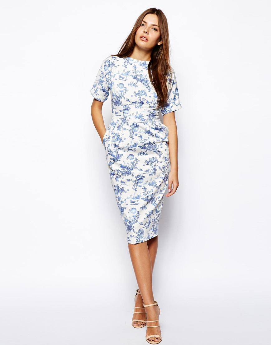 asos floral blue dress