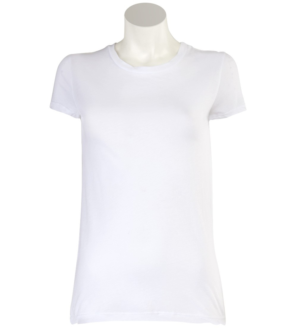 Lyst stateside white crew neck shirt in white for Crew neck white t shirt