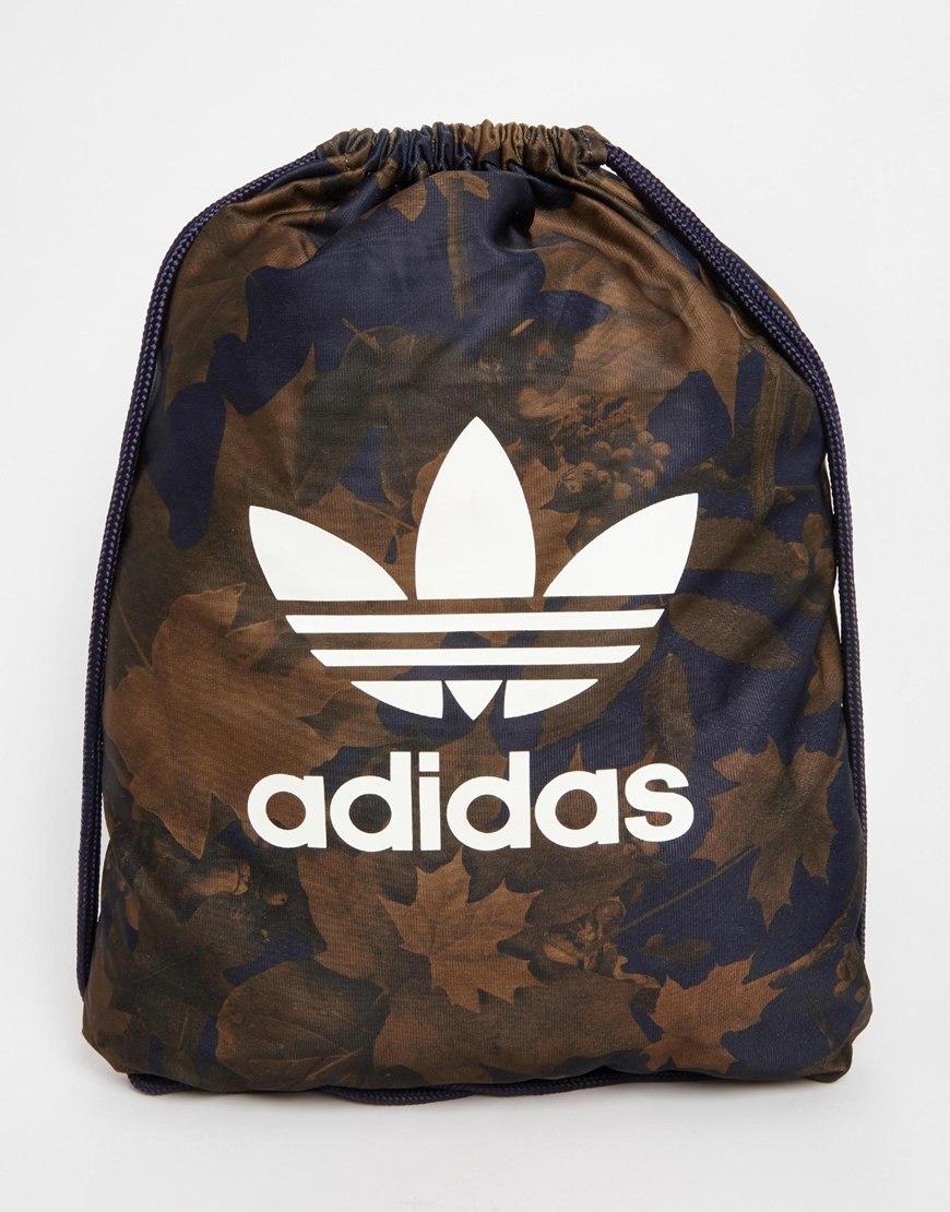 Adidas Originals Drawstring Backpack In Camo Ax6315 in Green for Men ... 5e0f4d3998
