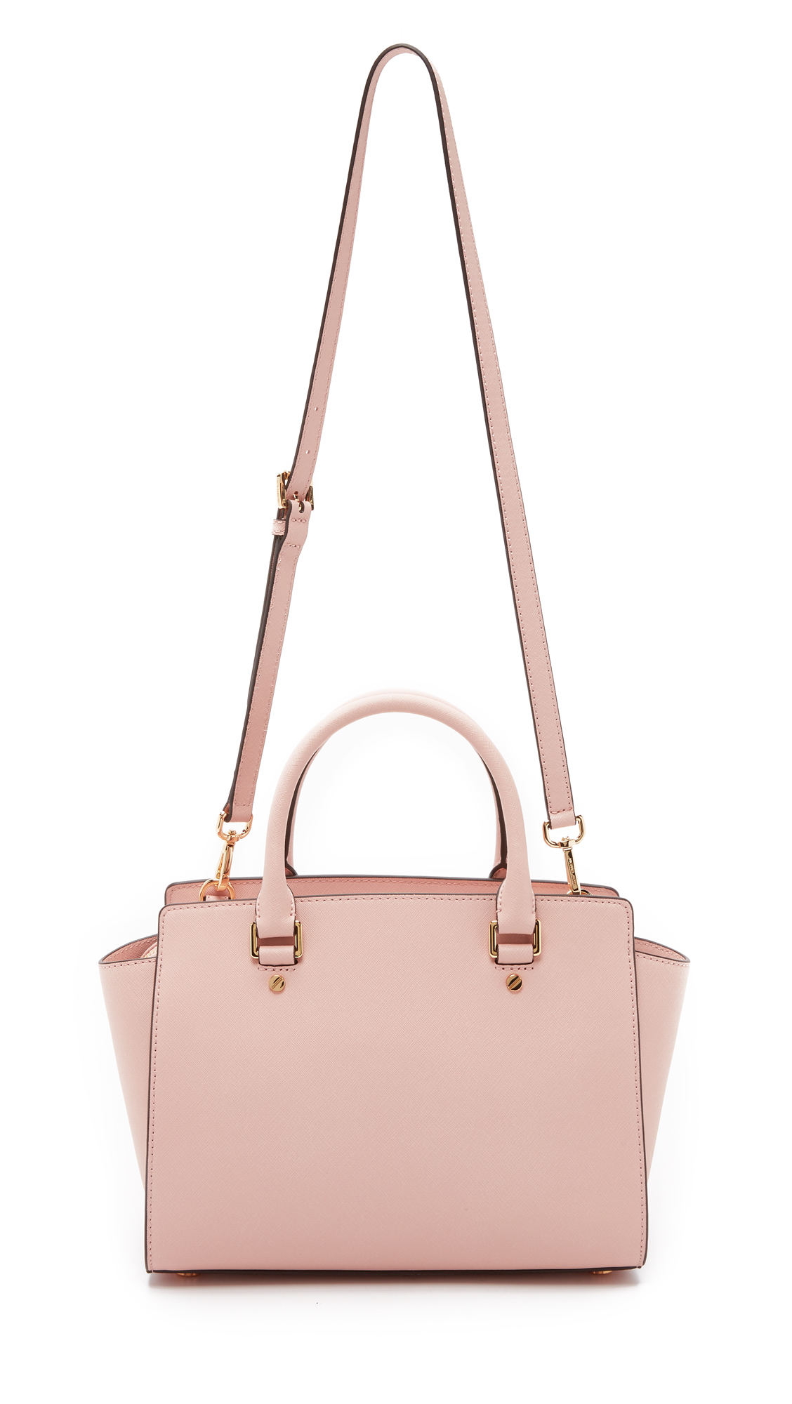 0cbcb18b2b ... france lyst michael michael kors selma medium satchel ballet in pink  b2b5c e5fb4