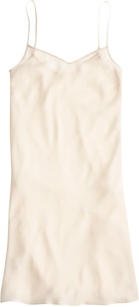 Galerry j crew silk slip dress