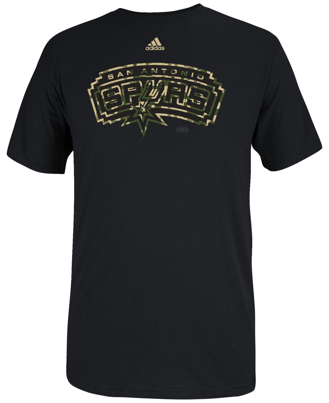 Adidas originals men 39 s san antonio spurs pride logo t for Screen print shirts san antonio