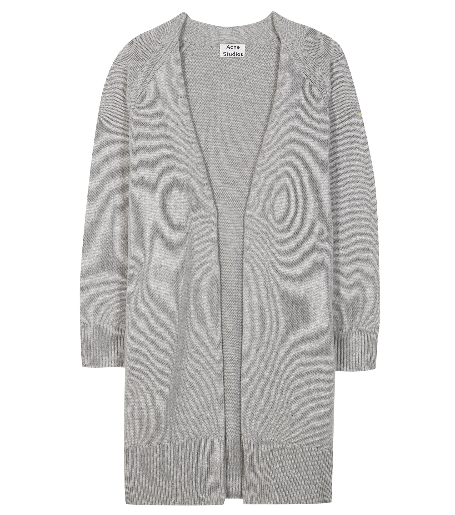 Acne studios Sonya Wool And Cashmere Open Cardigan in Gray | Lyst
