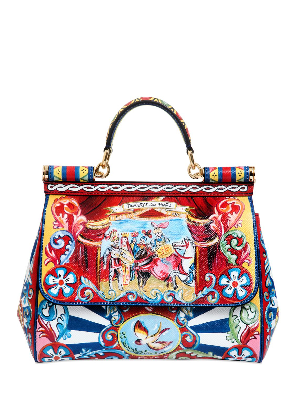 Dolce & Gabbana Grande Sicily printed bag C6cf73ppp