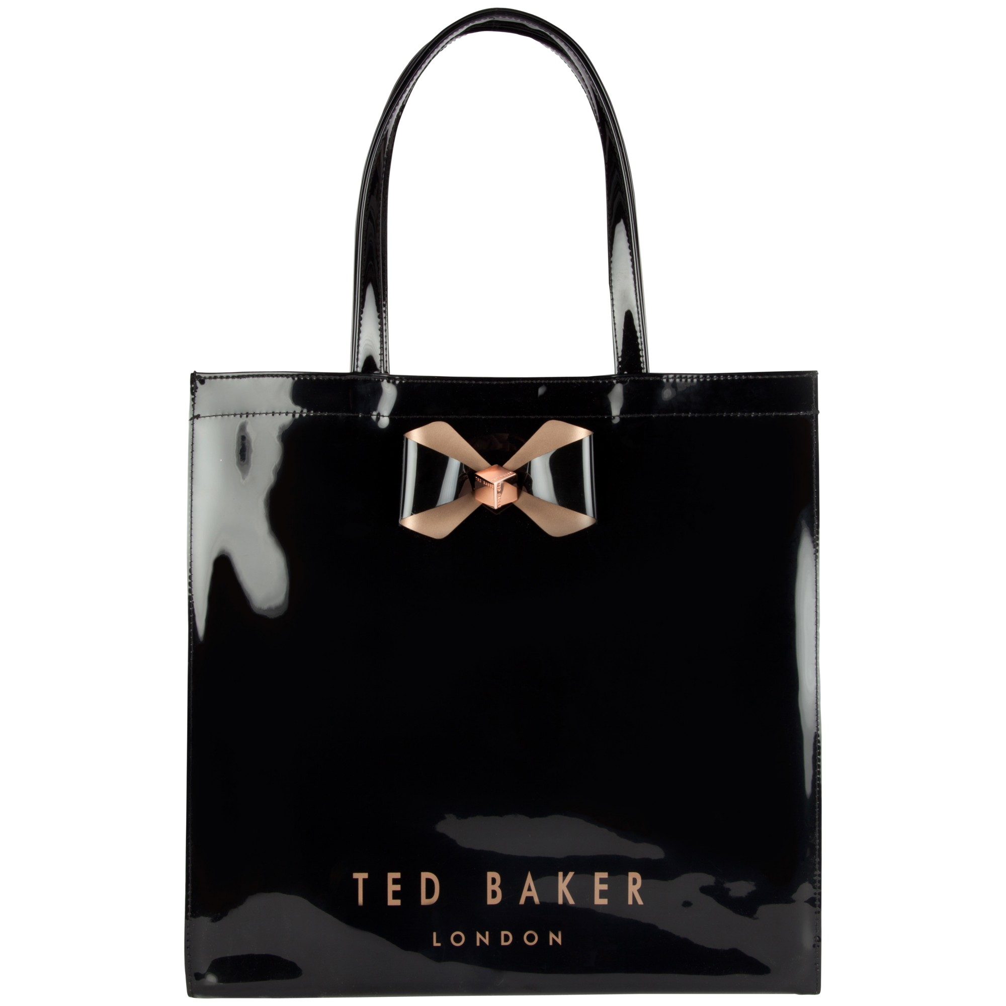 332004bc23ff Ted Baker Bowicon Large Bow Trim Shopper Bag in Black - Lyst