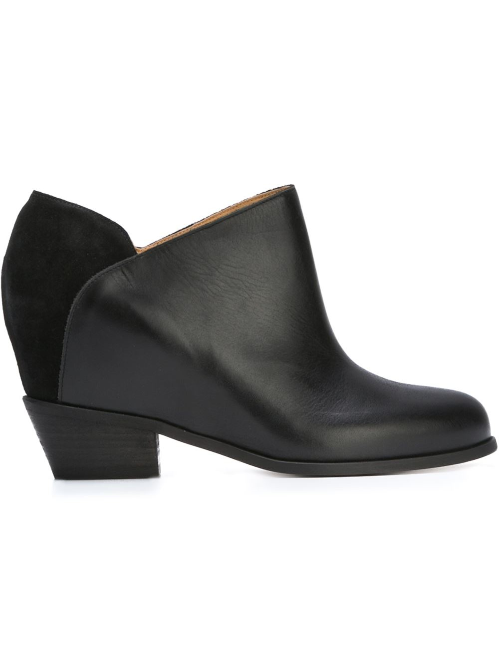 Mm6 by maison martin margiela sculpted booties in black lyst for Mm6 maison margiela