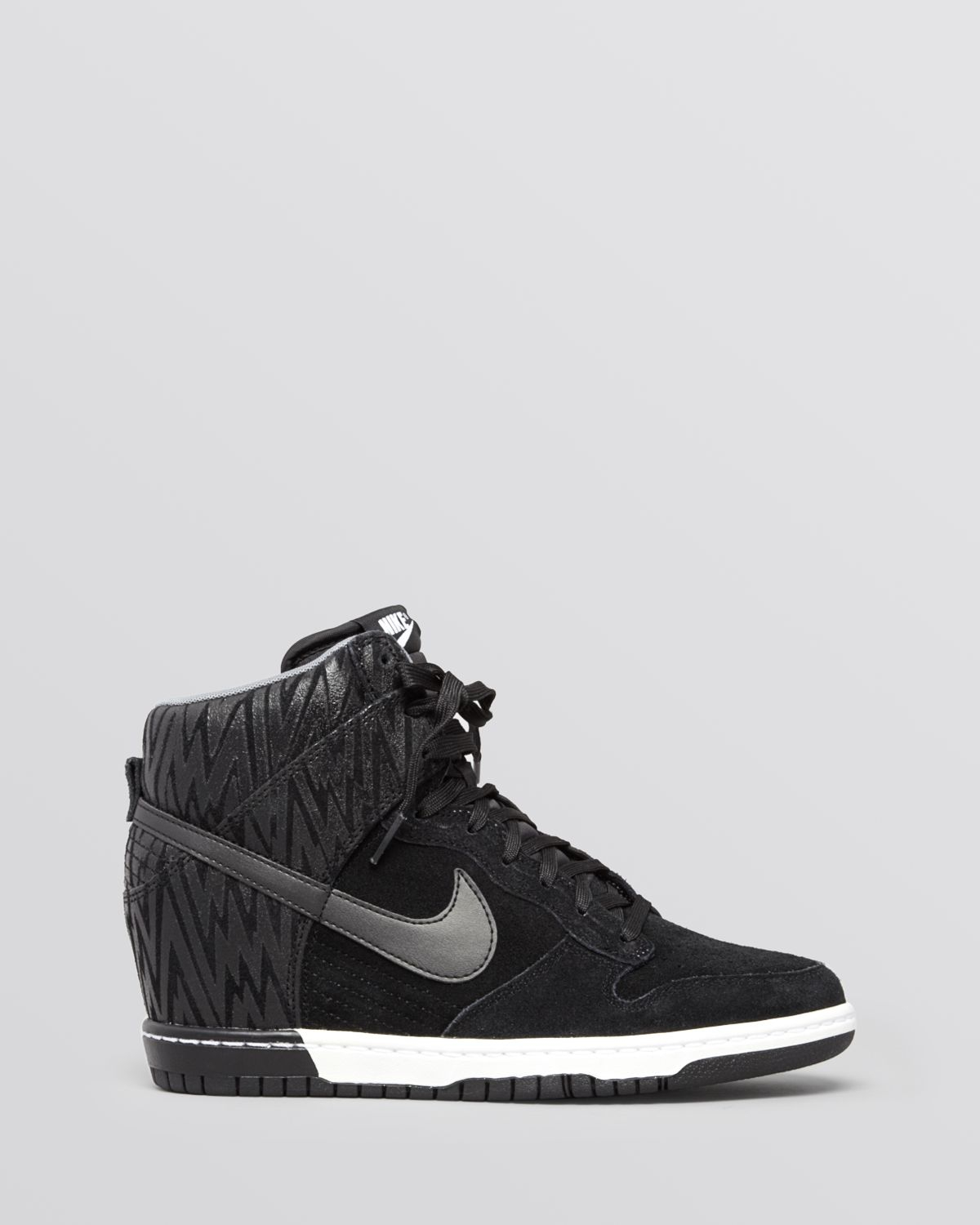 Lyst - Nike Lace Up High Top Wedge Sneakers Womens Dunk ...