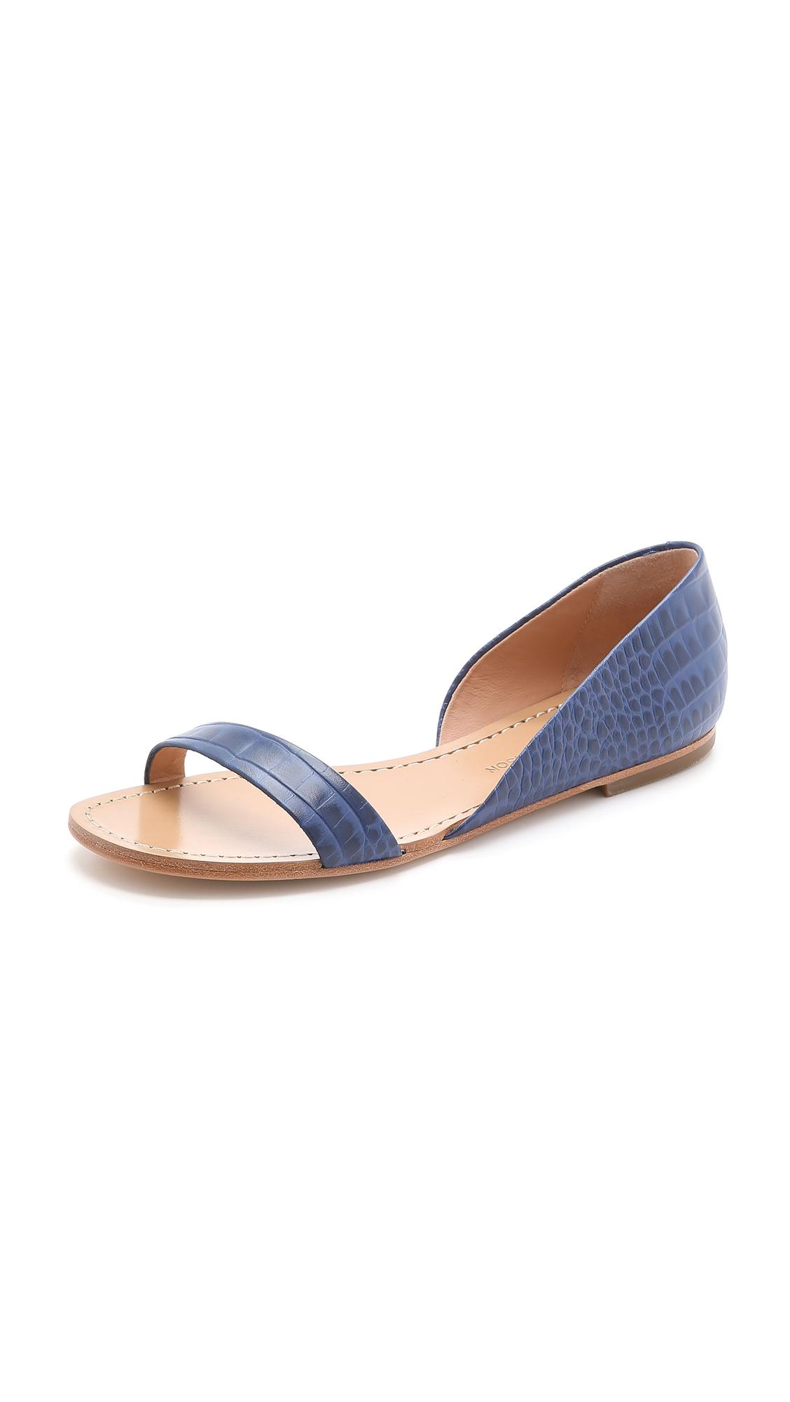 a2b13da7b407 Lyst - Sigerson Morrison Kameda Flat Sandals - Navy in Blue