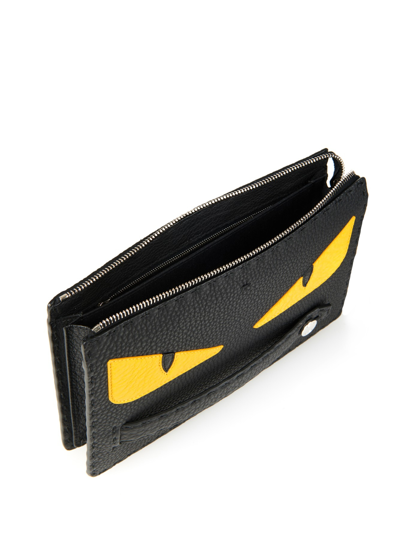 ... low cost lyst fendi bag bugs selleria leather pouch in black for men  3ca2e 223f6 97d65b3b55643